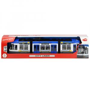 Tramvai Dickie Toys City Liner albastru [1]