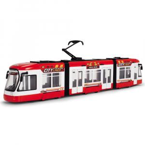 Tramvai Dickie Toys City Liner rosu0