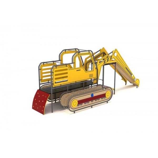 O2YN Seria HDPE Echipament loc de joaca Excavator cu Tobogan si Cățărătoare 1
