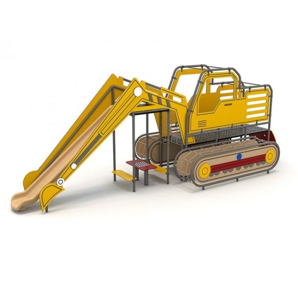 O2YN Seria HDPE Echipament loc de joaca Excavator cu Tobogan si Cățărătoare 0