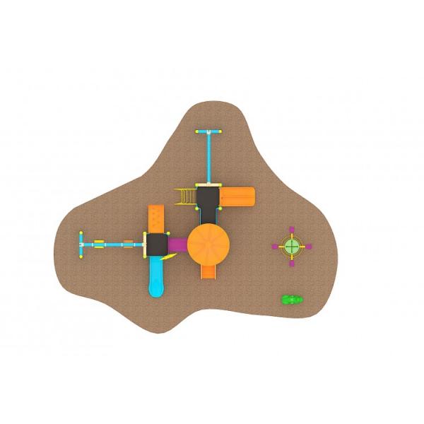 04 Oferta speciala Ansamblu echipamente loc de joaca Scara 2 Tobogane 3 Cataratoare Figurina arc Carusel 2