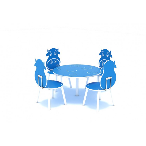 111OE Element Loc de joaca interior Masa cu 4 scaune 1