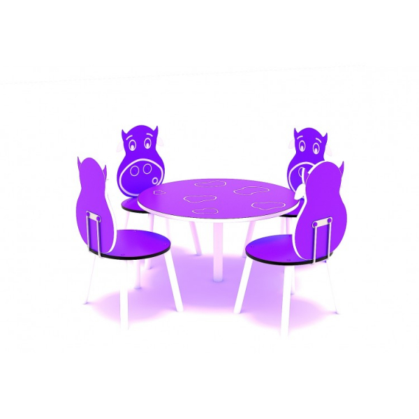 111OE Element Loc de joaca interior Masa cu 4 scaune 2