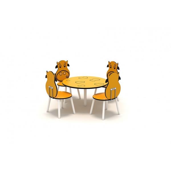 111OE Element Loc de joaca interior Masa cu 4 scaune 0
