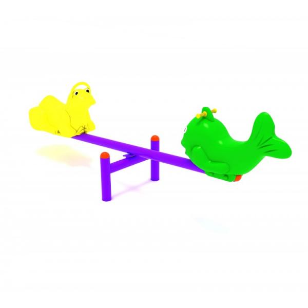 118OE Balansoar Element loc de joaca figurine animale cu 2 locuri 2