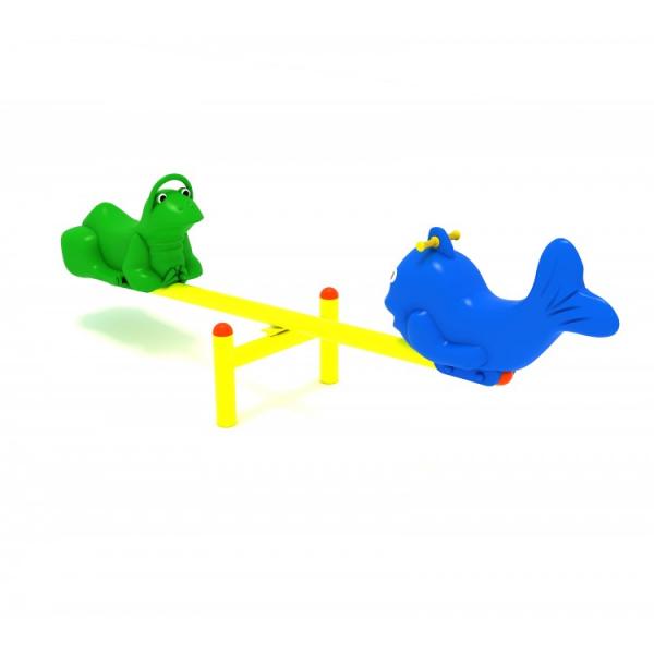 118OE Balansoar Element loc de joaca figurine animale cu 2 locuri 3