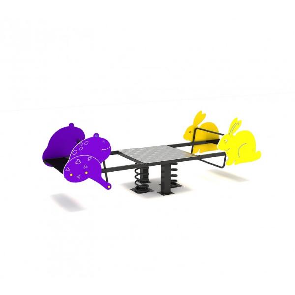 119OE Balansoar Element loc de joaca figurine animale pe arc cu 4 locuri 2