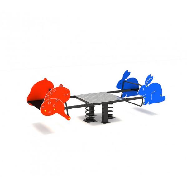 119OE Balansoar Element loc de joaca figurine animale pe arc cu 4 locuri 3