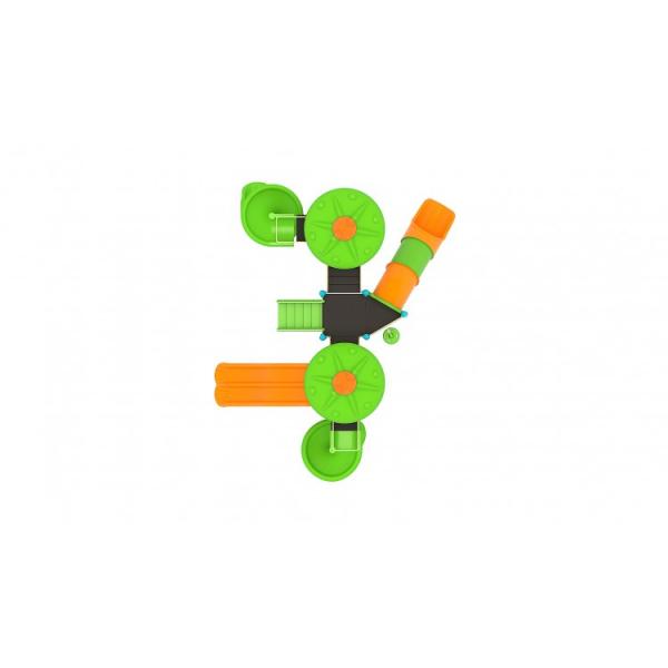 159M Cosmos Ansamblu Echipamente loc de joaca exterior parc din metal cu Scara 4 Tobogane Activitati Bancuta și Cățărătoare [2]