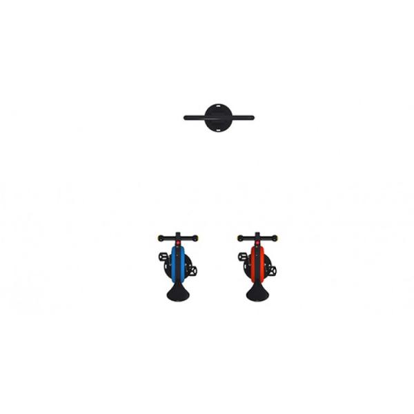 01IOE Interactive Echipament loc de joaca independent cu 2 Biciclete si Display activitati [1]