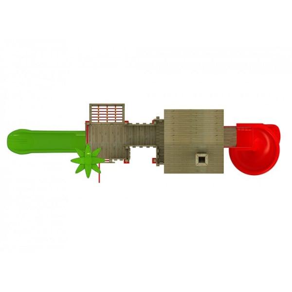 30A Casa Echipament loc de joaca exterior parc din lemn cu 2 Tobogane Numaratoare si 2 Cataratoare 2