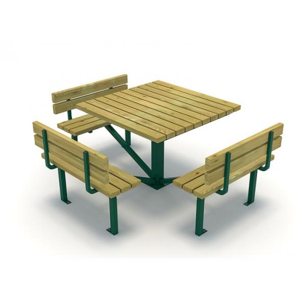 31EG Mobilier Urban Masa cu Banci lemn si metal dizabilitati 0