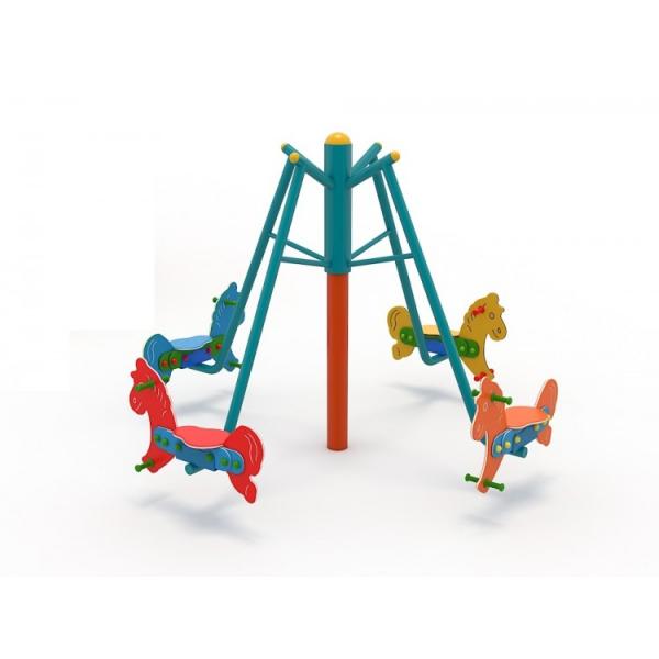 36OE Carusel rotativ Element loc de joaca Caluti cu 4 locuri 1