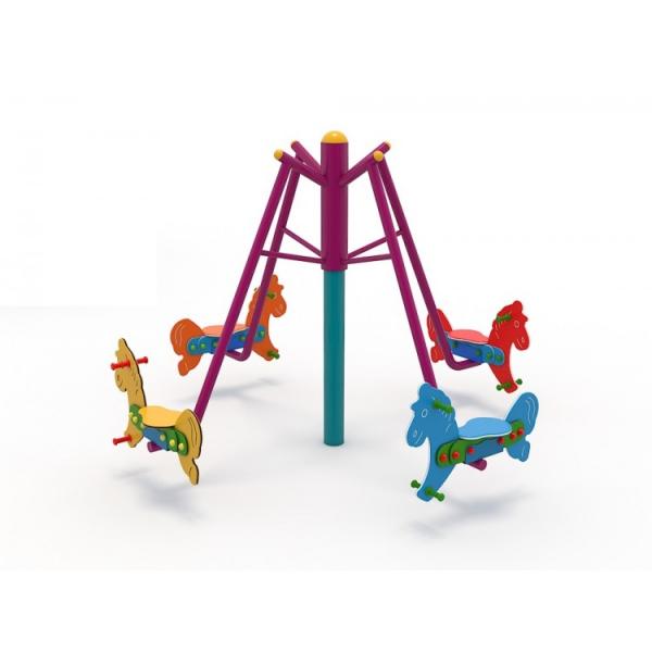 36OE Carusel rotativ Element loc de joaca Caluti cu 4 locuri 2
