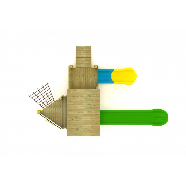 48A Clasic Echipament loc de joaca exterior parc din lemn cu 2 Cataratoare 2 Tobogane si Activitati 2