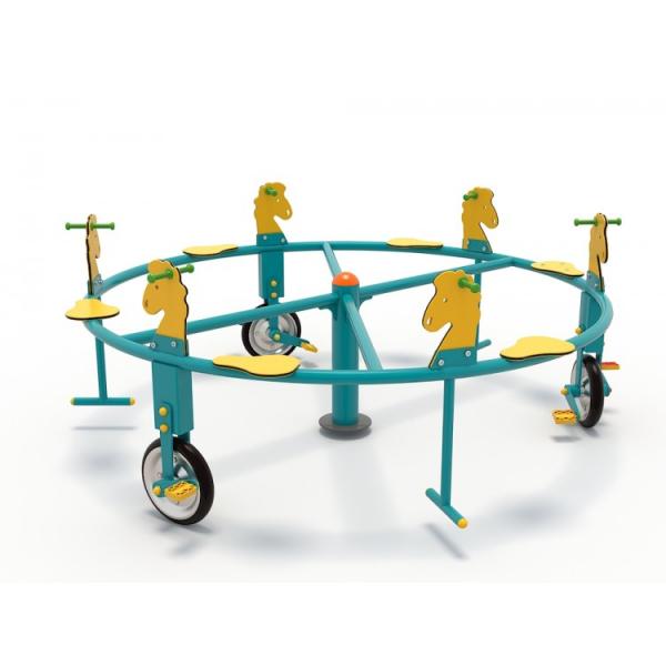 50OE Carusel rotativ Element loc de joaca Biciclete cu 6 locuri 0