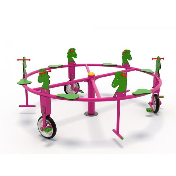 50OE Carusel rotativ Element loc de joaca Biciclete cu 6 locuri 1