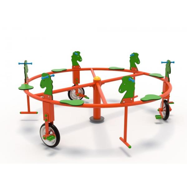 50OE Carusel rotativ Element loc de joaca Biciclete cu 6 locuri 2