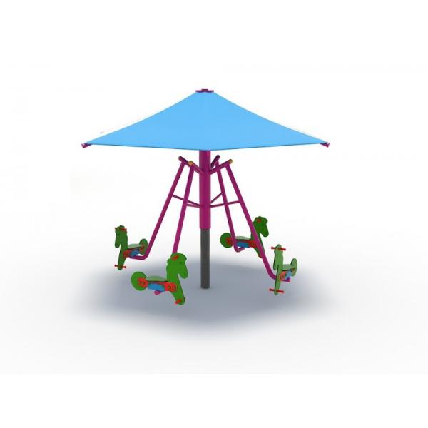 63OE Carusel rotativ Element loc de joaca Căluți cu umbrelă 1