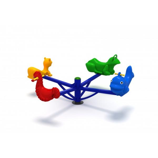 64OE Carusel rotativ Element loc de joaca Figurine animale cu 4 locuri 0