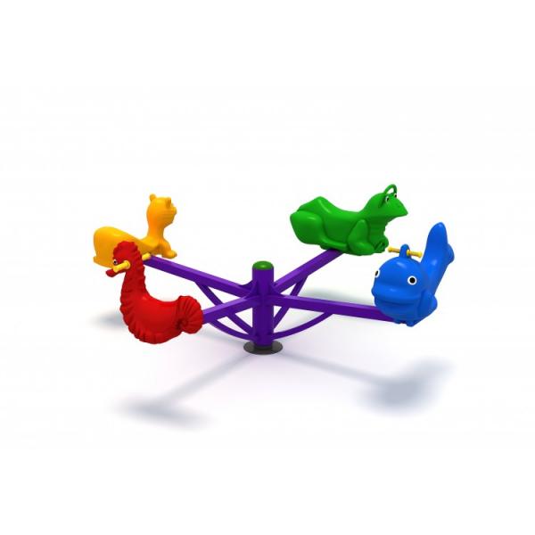 64OE Carusel rotativ Element loc de joaca Figurine animale cu 4 locuri 1