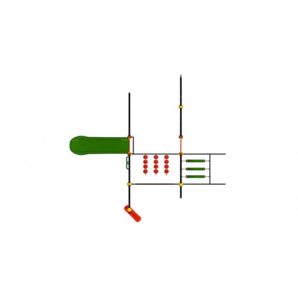 08YN Seria Franghie Echipament loc de joaca cu Tobogan Cățărătoare si Activitati complexe [2]