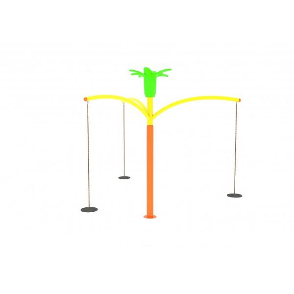 92OE Carusel rotativ Element loc de joaca Leagan cu 3 locuri 2