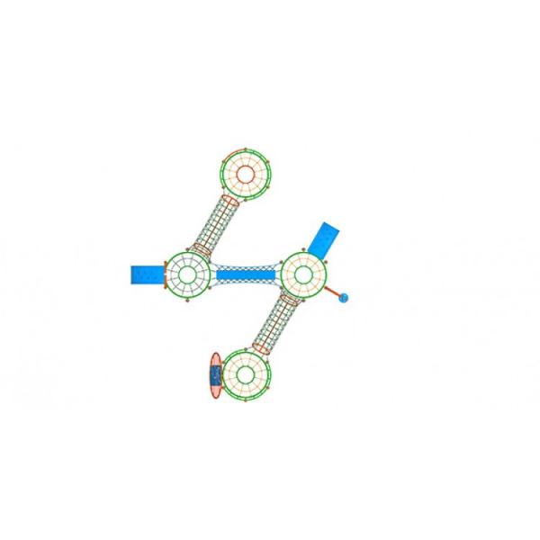 09YN Seria Franghie Echipament loc de joaca cu Cățărătoare si Activitati complexe 2