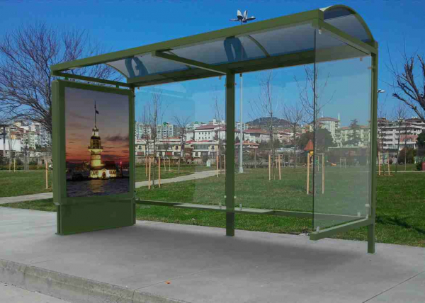 BENGONYA Mobilier urban stradal Statii de autobuz din metal vopsit 0