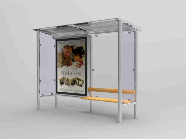 DAR TIP 2 Mobilier urban stradal Statii de autobuz din otel inoxidabil [0]