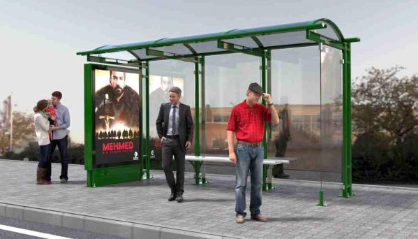 HAZERAN Mobilier urban stradal Statii de autobuz din metal vopsit 1