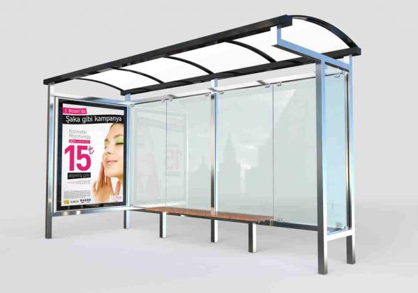 LATIN Mobilier urban stradal Statii de autobuz din otel inoxidabil 0