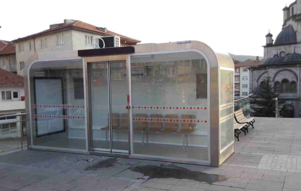 MANOLYA 03 Mobilier urban stradal Statii de autobuz din otel inoxidabil 1