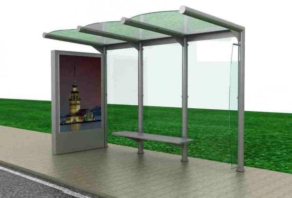 PAPATYA Mobilier urban stradal Statii de autobuz din metal vopsit 1