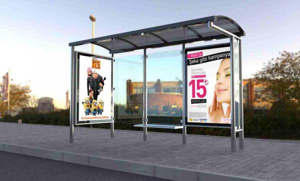 REYHAN Mobilier urban stradal Statii de autobuz din otel inoxidabil 1