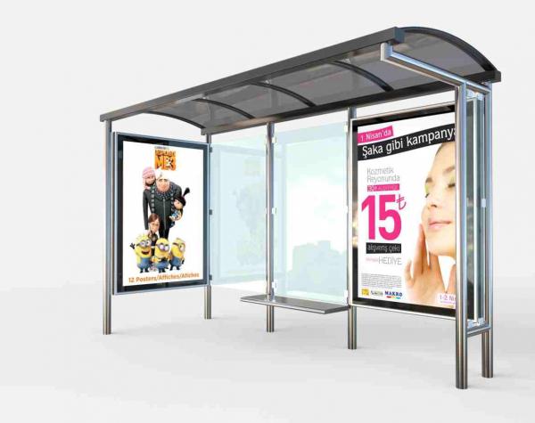 REYHAN Mobilier urban stradal Statii de autobuz din otel inoxidabil 0