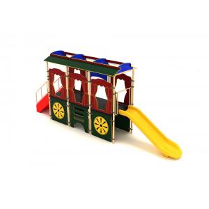 O4YN Seria HDPE Echipament loc de joaca Tren cu Scara Tobogan si Cățărătoare [1]