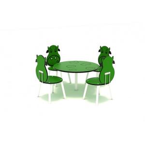 111OE Element Loc de joaca interior Masa cu 4 scaune3