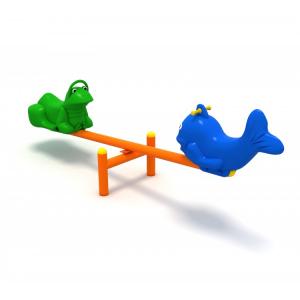 118OE Balansoar Element loc de joaca figurine animale cu 2 locuri0