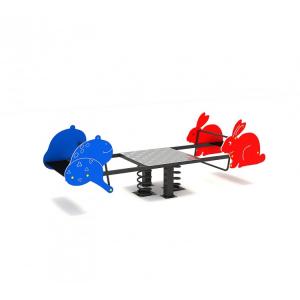 119OE Balansoar Element loc de joaca figurine animale pe arc cu 4 locuri1