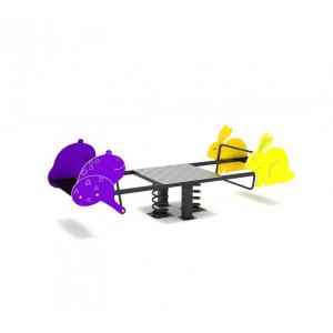119OE Balansoar Element loc de joaca figurine animale pe arc cu 4 locuri2