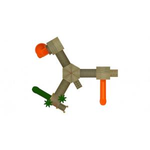 19A Clasic Echipament loc de joaca exterior parc din lemn cu Scara 3 Tobogane si Cataratoare [2]