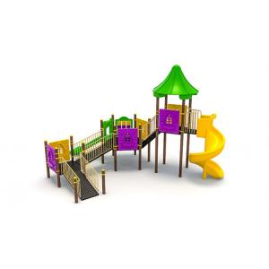 27EG Complex Echipament loc de joaca dizabilitati exterior parc din metal cu Rampă 2 Tobogane și Activități0