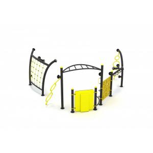30INT Interactive Ansamblu echipamente loc de joaca cu 4 Cățărătoare și Activități interactive complexe0