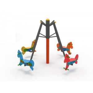 36OE Carusel rotativ Element loc de joaca Caluti cu 4 locuri3