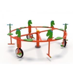 50OE Carusel rotativ Element loc de joaca Biciclete cu 6 locuri2