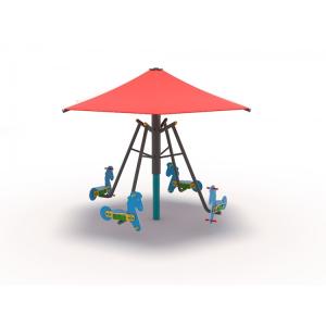 63OE Carusel rotativ Element loc de joaca Căluți cu umbrelă0