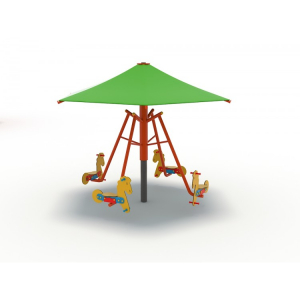 63OE Carusel rotativ Element loc de joaca Căluți cu umbrelă2