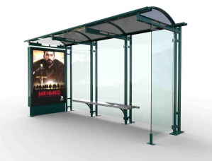 HAZERAN Mobilier urban stradal Statii de autobuz din metal vopsit0