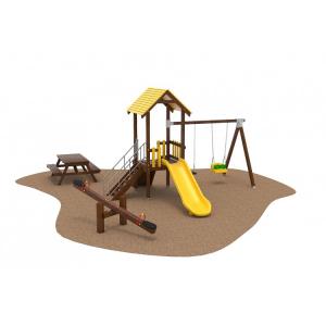 06 Oferta speciala Echipament loc de joaca lemn Scara Tobogan Balansoar Cataratoare si Masa Picnic1